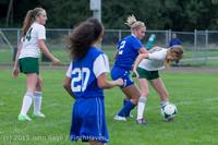 7516 Girls Soccer v Life-Chr 092313