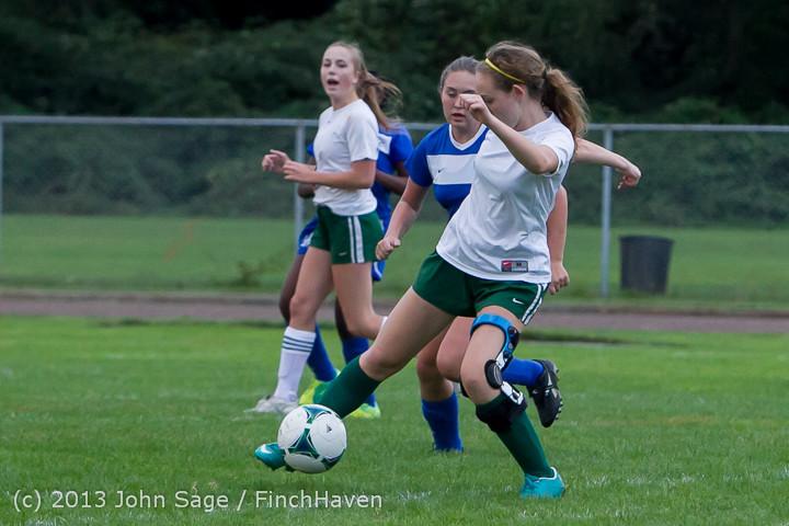 7628 Girls Soccer v Life-Chr 092313