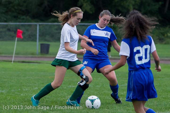 7636 Girls Soccer v Life-Chr 092313