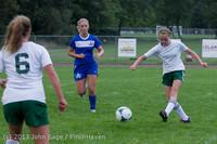 7639 Girls Soccer v Life-Chr 092313