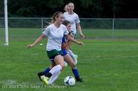 7643 Girls Soccer v Life-Chr 092313