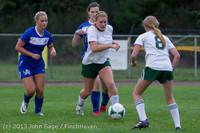 7655 Girls Soccer v Life-Chr 092313