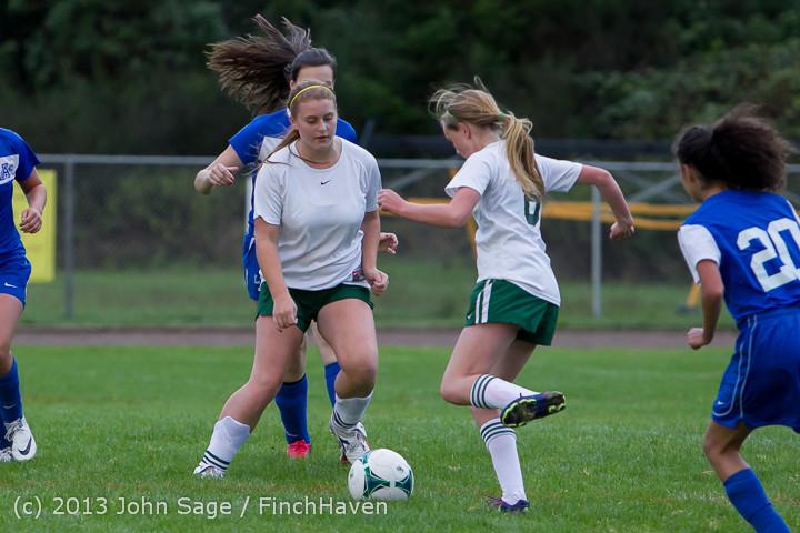7659 Girls Soccer v Life-Chr 092313