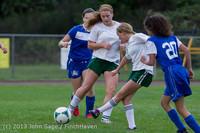 7661 Girls Soccer v Life-Chr 092313