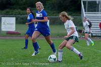 7673 Girls Soccer v Life-Chr 092313