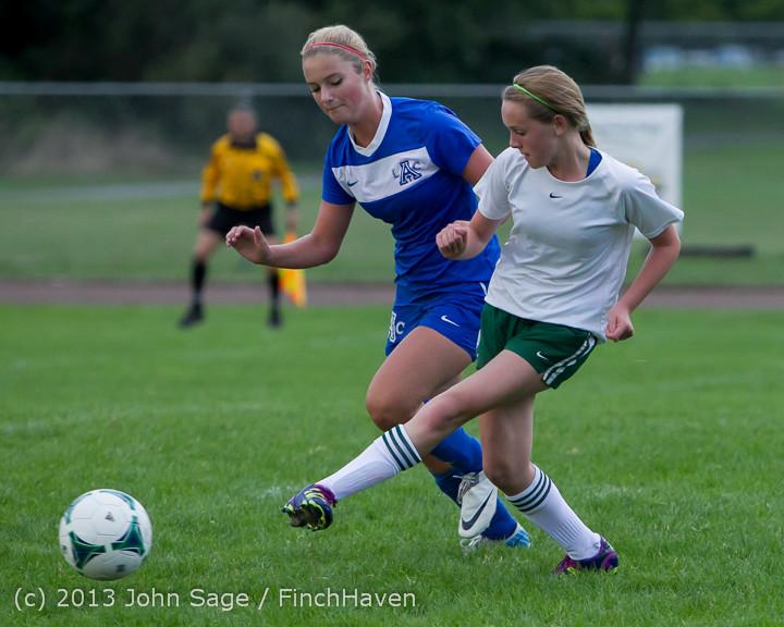 7680 Girls Soccer v Life-Chr 092313