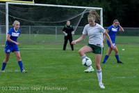 7691 Girls Soccer v Life-Chr 092313