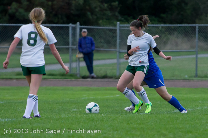 7696 Girls Soccer v Life-Chr 092313