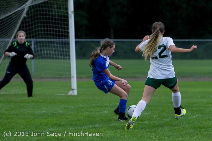 7709 Girls Soccer v Life-Chr 092313