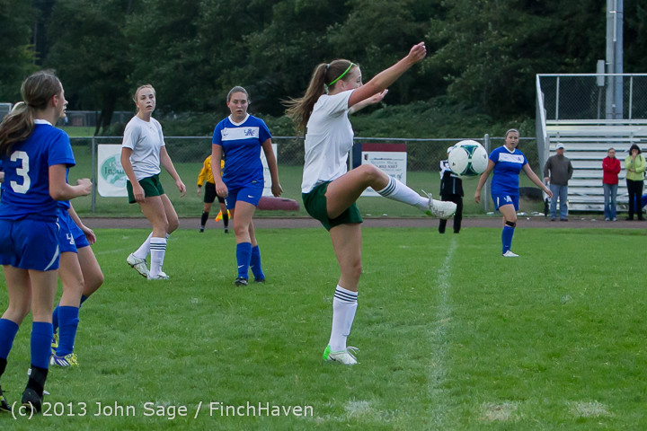 7746 Girls Soccer v Life-Chr 092313