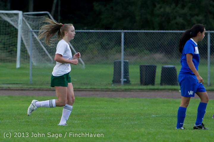 7776 Girls Soccer v Life-Chr 092313
