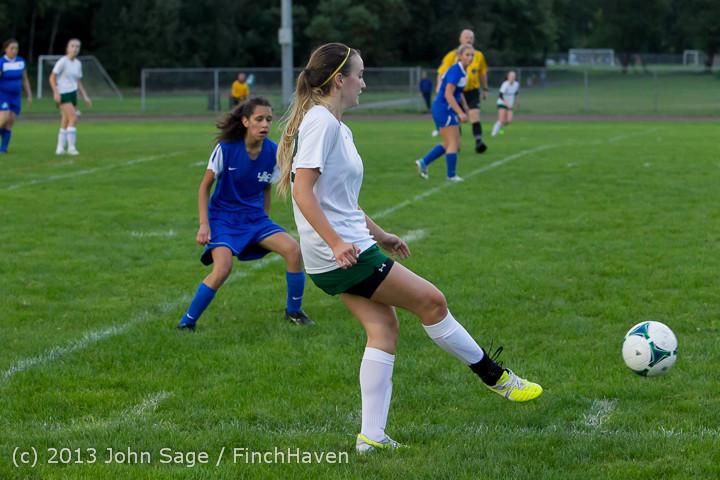 7810 Girls Soccer v Life-Chr 092313