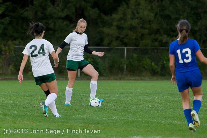 7814 Girls Soccer v Life-Chr 092313