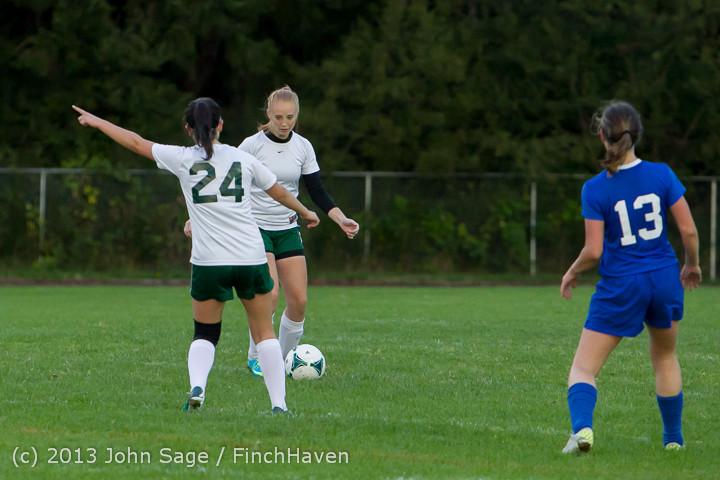7818 Girls Soccer v Life-Chr 092313