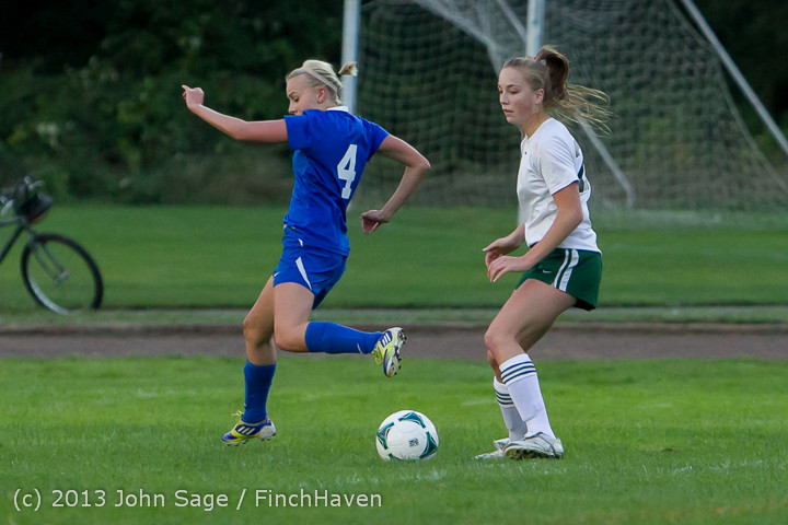 7830 Girls Soccer v Life-Chr 092313