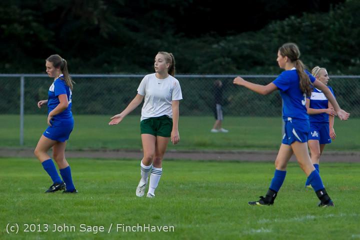 7849 Girls Soccer v Life-Chr 092313