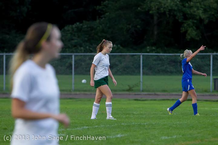 7854 Girls Soccer v Life-Chr 092313
