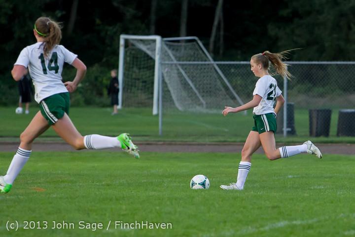 7891 Girls Soccer v Life-Chr 092313