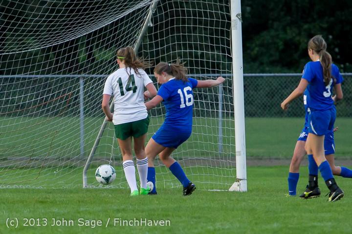 7910 Girls Soccer v Life-Chr 092313