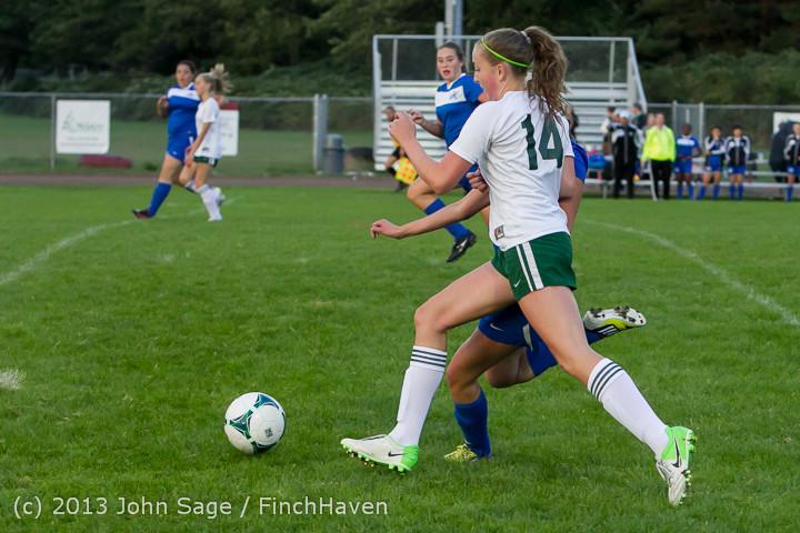7952 Girls Soccer v Life-Chr 092313