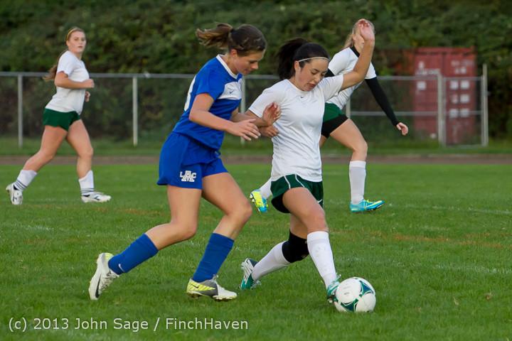 7968 Girls Soccer v Life-Chr 092313