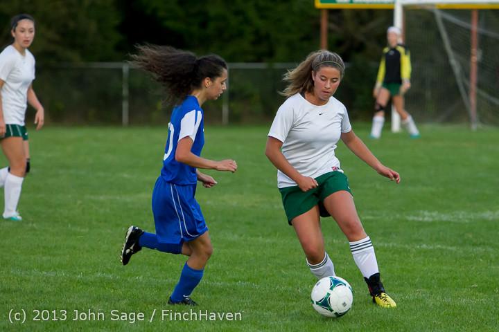 7985 Girls Soccer v Life-Chr 092313