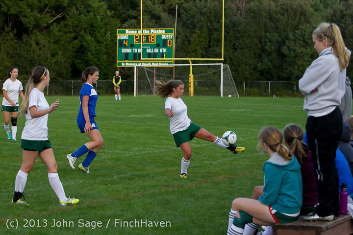 7991 Girls Soccer v Life-Chr 092313