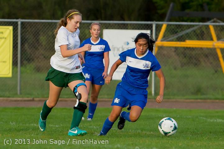 8000 Girls Soccer v Life-Chr 092313