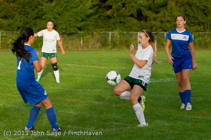 8036 Girls Soccer v Life-Chr 092313