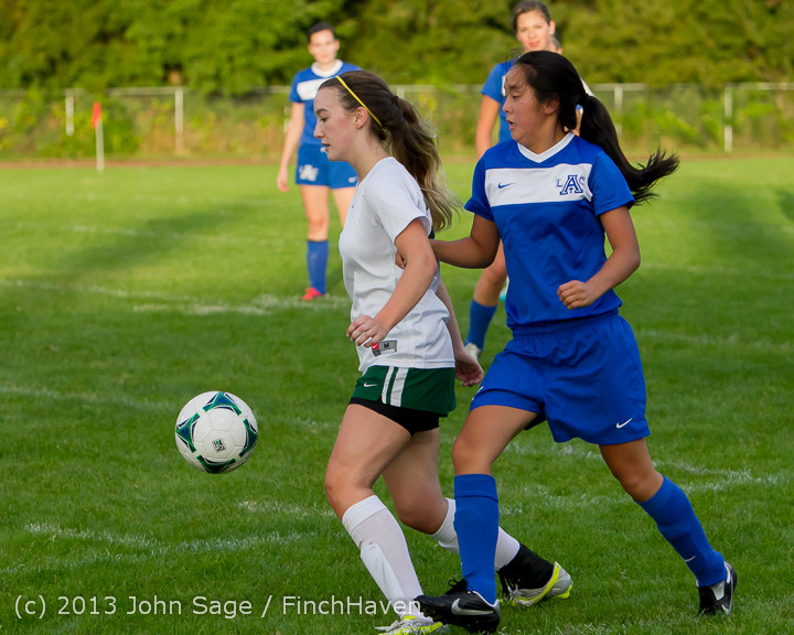 8043 Girls Soccer v Life-Chr 092313