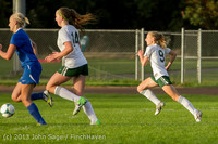 8108 Girls Soccer v Life-Chr 092313