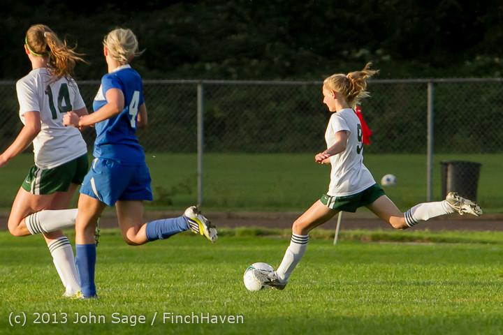 8115 Girls Soccer v Life-Chr 092313
