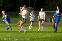 8128 Girls Soccer v Life-Chr 092313