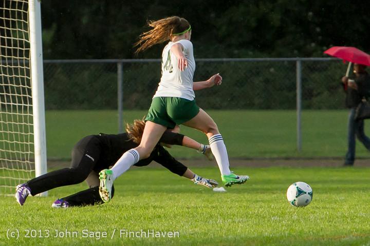 8158 Girls Soccer v Life-Chr 092313