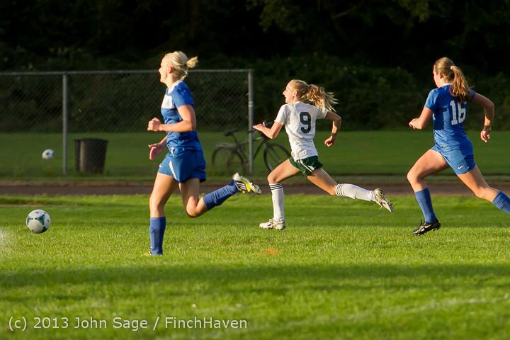 8186 Girls Soccer v Life-Chr 092313
