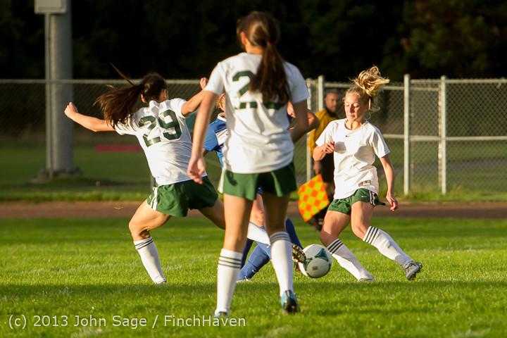 8222 Girls Soccer v Life-Chr 092313