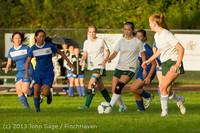 8307 Girls Soccer v Life-Chr 092313