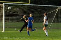 8338 Girls Soccer v Life-Chr 092313