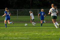 8355 Girls Soccer v Life-Chr 092313