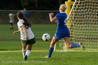 8370 Girls Soccer v Life-Chr 092313