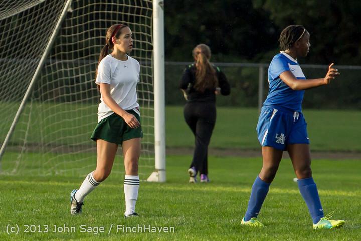 8388 Girls Soccer v Life-Chr 092313