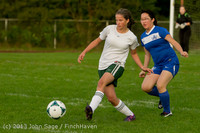 8454 Girls Soccer v Life-Chr 092313