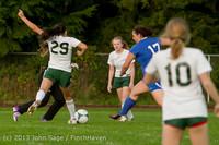 8524 Girls Soccer v Life-Chr 092313