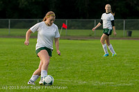 8559 Girls Soccer v Life-Chr 092313