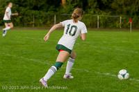 8573 Girls Soccer v Life-Chr 092313