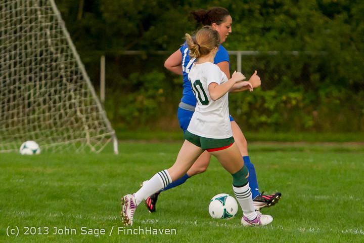 8617 Girls Soccer v Life-Chr 092313