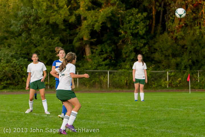 8635 Girls Soccer v Life-Chr 092313