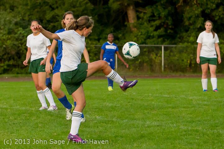 8638 Girls Soccer v Life-Chr 092313