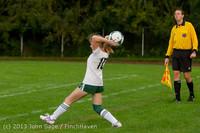 8643 Girls Soccer v Life-Chr 092313