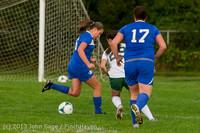 8656 Girls Soccer v Life-Chr 092313